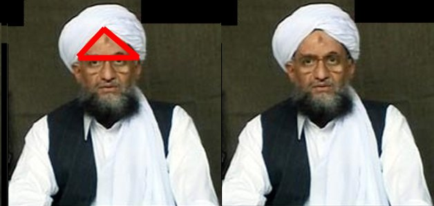 Muslim Head Covering With Pyramid Shaped Gap In The Forehead