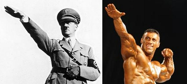 Demonization_Nazi_Salute-HitlerMuscleCompare