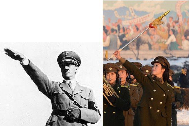 Demonization_Nazi_Salute-HitlerWomanCompare