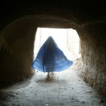 Afghan Woman In Pyramid Shaped Dress