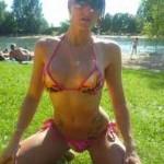 Pyramid Shaped Body Parts 07 - Kneeling Bikini Girl